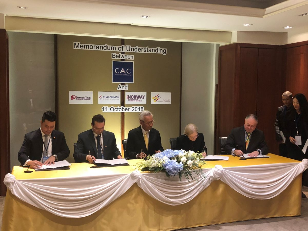 Nordic Chambers of Commerce to Support Thai Anti-Corruption Initiative