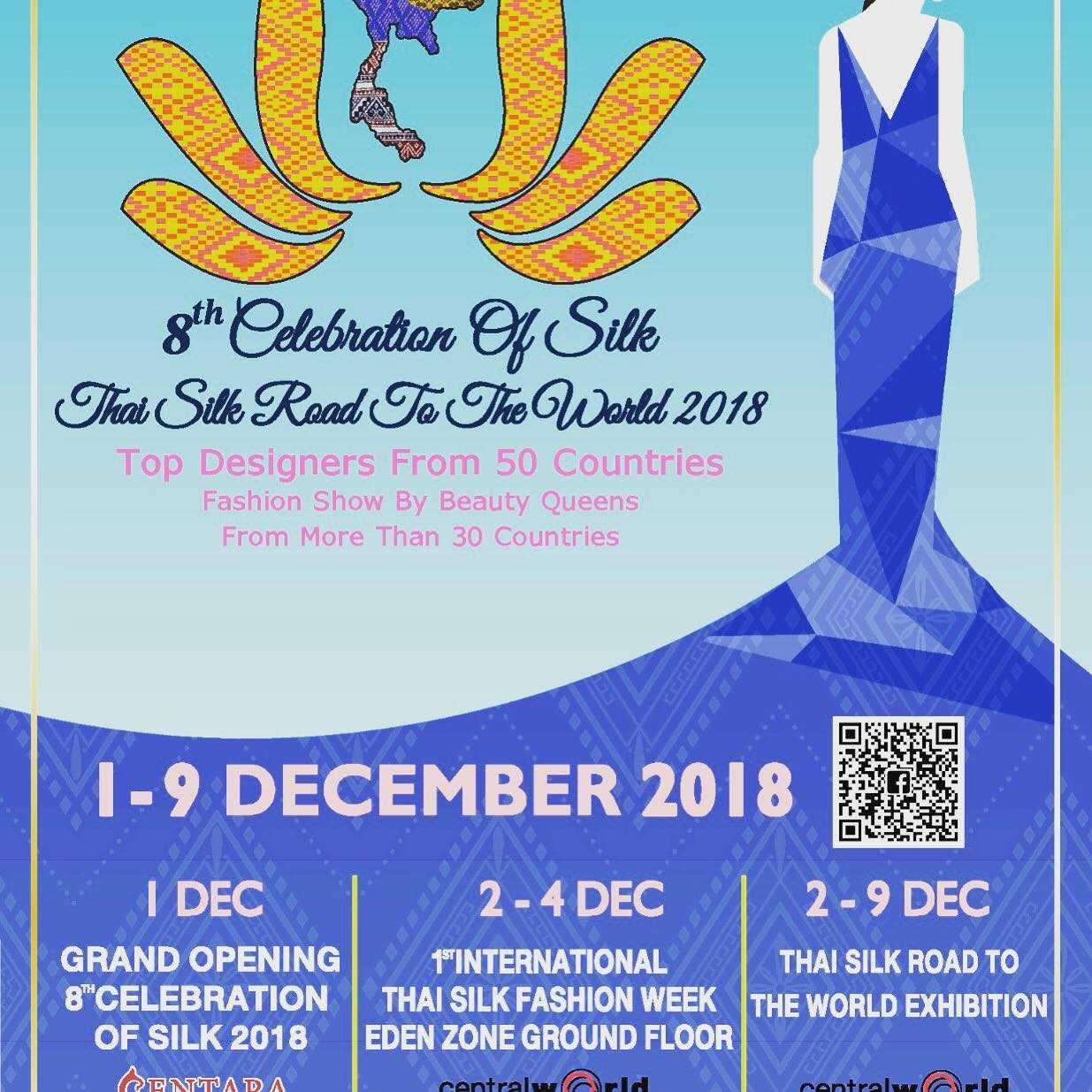 Young Danish Fashion Designer showcases styles at Celebration of Silk and Bangkok Thai Silk Fashion Week 2018  1-9 December 2018