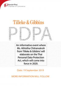 Event flyer for PDPA event